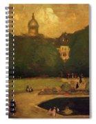 Au Jardin Du Luxembourg 1899 Spiral Notebook