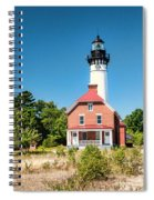 Au Sable Point Lighthouse Spiral Notebook