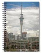 Auckland New Zealand Sky Tower Textured Spiral Notebook