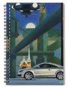 Audi Gaudi - The Retro Of The Future Spiral Notebook