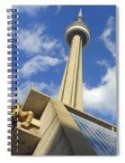 Audience Sculpture And The Cn Tower Spiral Notebook