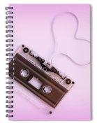 Audio Cassette Love Pink Spiral Notebook
