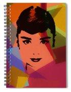 Audrey Hepburn Pop Art 1 Spiral Notebook