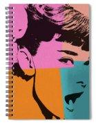 Audrey Hepburn Pop Art 2 Spiral Notebook