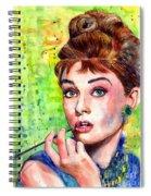 Audrey Hepburn Watercolor Spiral Notebook