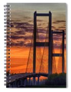 Audubon Bridge Sunrise Spiral Notebook
