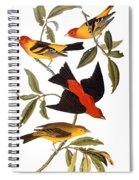 Audubon: Tanager, 1827 Spiral Notebook