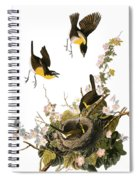 Audubon: Yellow Chat, (1827-38) Spiral Notebook