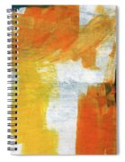 August- Abstract Art By Linda Woods. Spiral Notebook