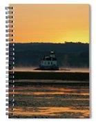 August Dawn At Esopus Light II Spiral Notebook