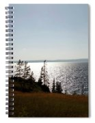 August Evening At Yellowstone Lake Spiral Notebook