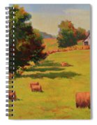 August Hay Field Spiral Notebook