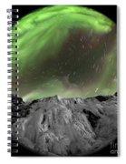 Aurora Borealis Over Iceland, Fisheye Spiral Notebook
