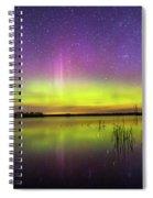 Aurora Borealis Over Lake Sinai Spiral Notebook