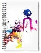 Aurora Flowers Spiral Notebook