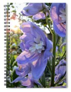 Aurora Light Purple Delphinium And Sunset No. 2 Spiral Notebook