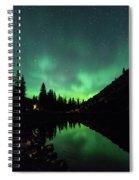 Aurora On Moraine Lake Spiral Notebook