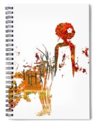 Aurora Orange Spiral Notebook
