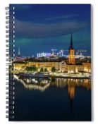 Aurora Over Stockholm In The Fall 2018 Spiral Notebook