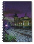 Aurora Over The Crawford Notch Depot Spiral Notebook