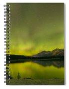 Aurora Over The Forest Spiral Notebook