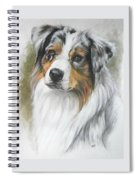 Aussie Shepherd Portrait Spiral Notebook