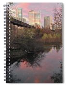 Austin Hike And Bike Trail - Train Trestle 1 Sunset Triptych Right Spiral Notebook