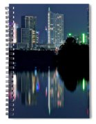 Austin Reflects In Ladybird Lake Spiral Notebook
