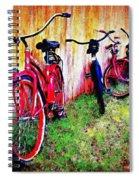 Austin Texas Bikes  -- Original Painting Spiral Notebook