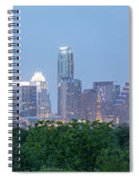 Austin Texas Building Skyline After The The Lights Are On Spiral Notebook