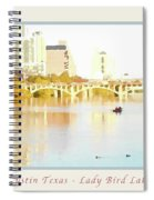 Austin Texas - Lady Bird Lake - Mid November - Two - Art Detail Poster Spiral Notebook