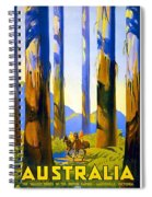 Australia - The Tallest Trees In The British Empire - Marysville, Victoria - Retro Travel Poster Spiral Notebook