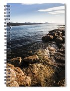 Australian Bay In Eastern Tasmania Spiral Notebook