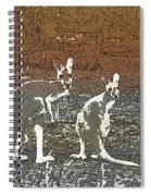 Australian Red Kangaroos Spiral Notebook