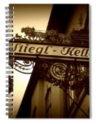 Austrian Beer Cellar Sign Spiral Notebook