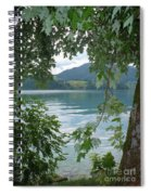 Austrian Lake Through The Trees Spiral Notebook
