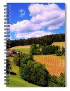 Austrian Rural Forest Vista Spiral Notebook
