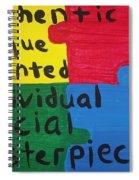 Autism Art Spiral Notebook