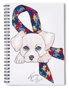 Autism Awareness And Puppy Love Spiral Notebook