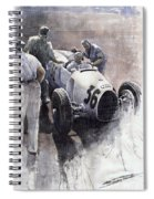 Auto Union B Type 1935 Italian Gp Monza B Rosermeyer Spiral Notebook