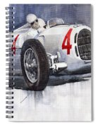 Auto Union C Type 1937 Monaco Gp Hans Stuck Spiral Notebook