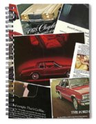 Automotive Ad's Collage 2 Spiral Notebook