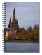 Autumn Lichfield Cathedral Spiral Notebook