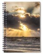 Autum Storm 001 Spiral Notebook