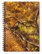 Autumn - Landscape - Country Road Side Spiral Notebook