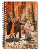 Autumn - People - A Walk In The Countryside Spiral Notebook