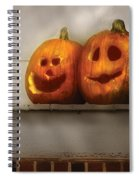 Autumn - Pumpkins - Two Goofy Pumpkins Spiral Notebook