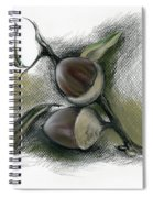 Autumn Acorns On An Oak Twig Spiral Notebook