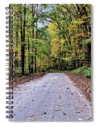 Autumn Along A Country Road 1 Spiral Notebook