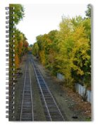 Autumn Along The Tracks Spiral Notebook